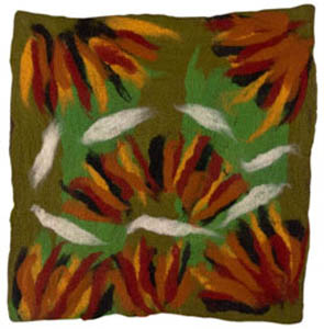 11. <strong>Myra Lawson</strong>, <em>Fire-clouds</em>, 2007<BR>dyed felted merino wool, 76 x 73 cm<BR>NFS
