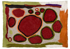 22. <strong>Walya Mitchell</strong>, <em>Kunma Tjukurrpa</em>, 2007<BR>dyed felted merino wool, 158 x 108 cm<BR>NFS
