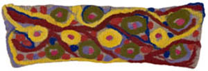 7. <strong>Lalla West</strong>, <em>Untitled</em>, 2007<BR>dyed felted merino wool, 35 x 85 cm<BR>$500