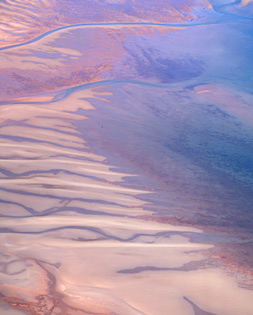 10. <strong>Richard Woldendorp</strong>, <em> Aerial, coastal sand bar, Exmouth Gulf near Onslow, Western Australia</em>, 2007, 1/7<br> inkjet colour prints, 100 x 70 cm<br>$4500